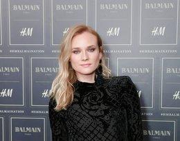 Diane Kruger na pokazie Balmain x H&M