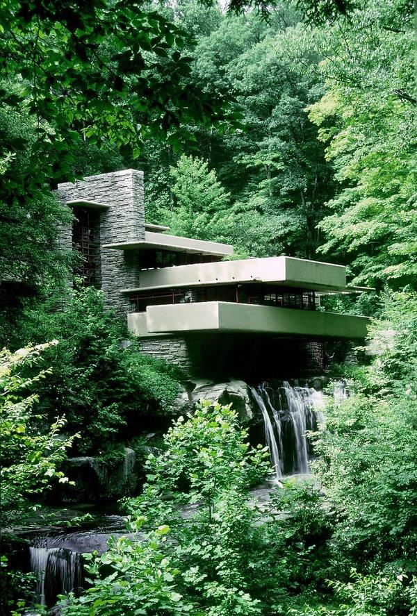 Dom Fallingwater, Frank Lloyd Wright