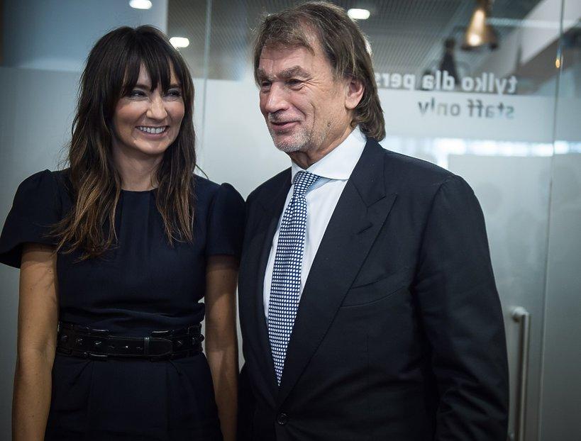 Dominika Kulczyk z tatą Jan Kulczyk
