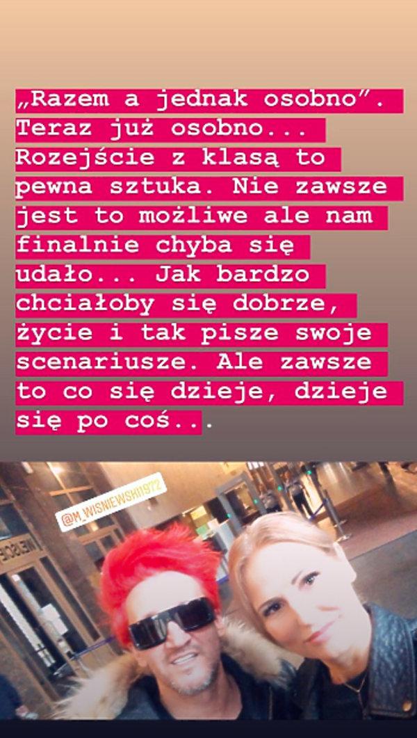 Dominika Tajner, Michał Wiśniewski po rozwodzie