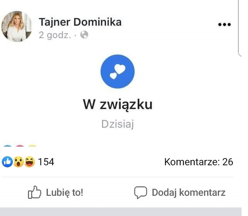 Dominika Tajner, związek