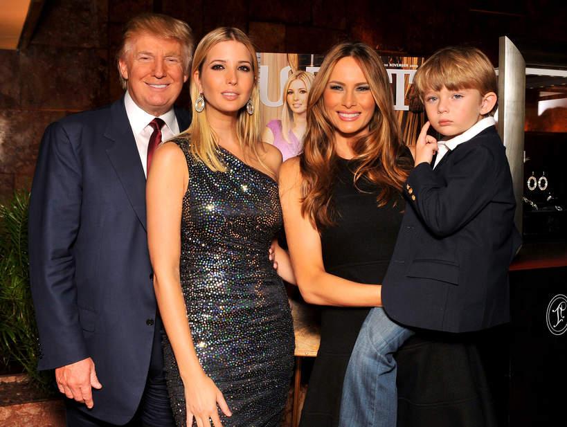 Donald Trump, Ivanka Trump, Melania Trump, Barron Trump, 2009