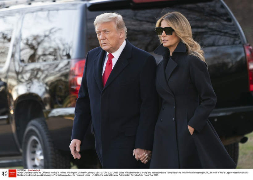 Donald Trump, Melania Trump 2020 rok