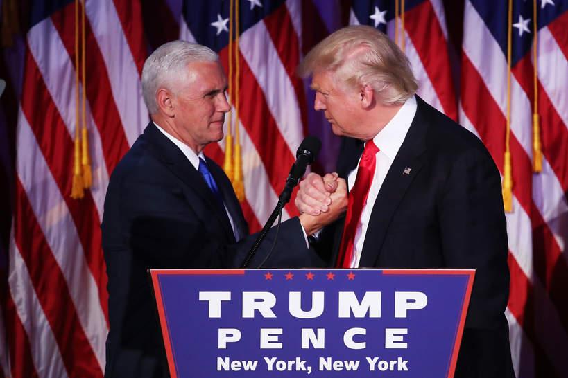 Donald Trump, Michael Pence, 2016 rok