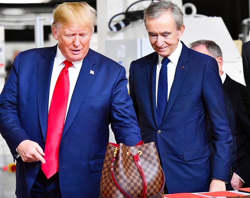 Donald Trump na otwarciu fabryki Louis Vuitton w Teksasie