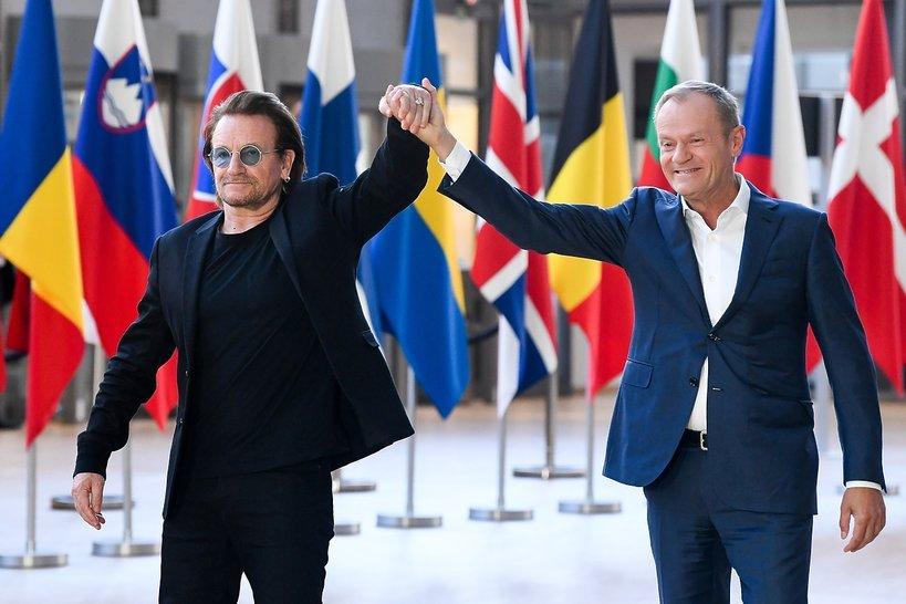 Donald Tusk, Bono
