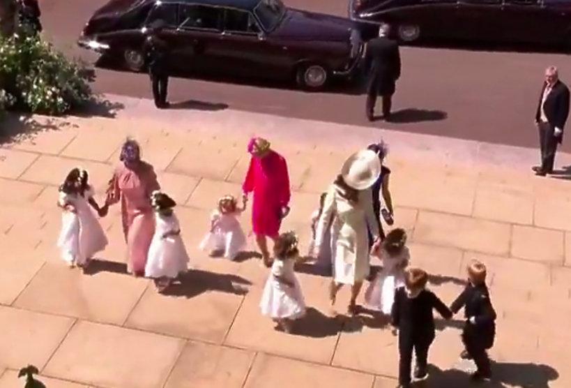 dzieci na ślubie Harry'ego i Meghan