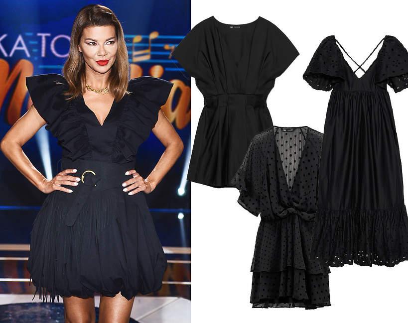 edyta-gorniak-w-modnej-czarnej-sukience-mini-na-lato-2020-podobne-modele-kupisz-w-sieciowce-zara