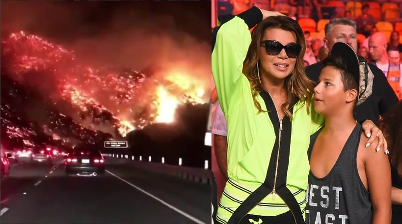 Edyta Górniak z Allanem, pożar w Los Angeles