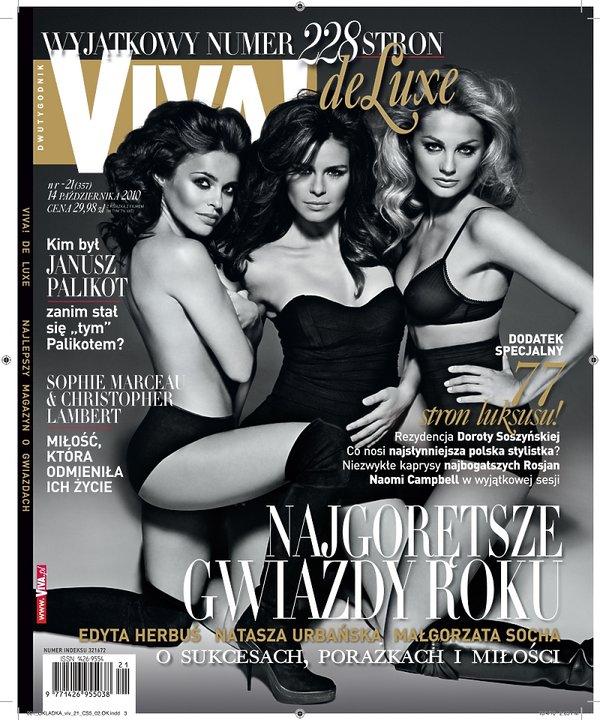 "Edyta Herbuś, Natasza Urbańska i Małgorzata Socha, ""Viva!"" październik 2010"