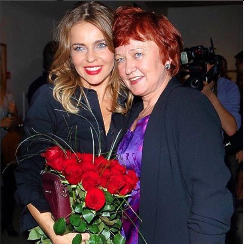 Edyta Herbuś z mamą