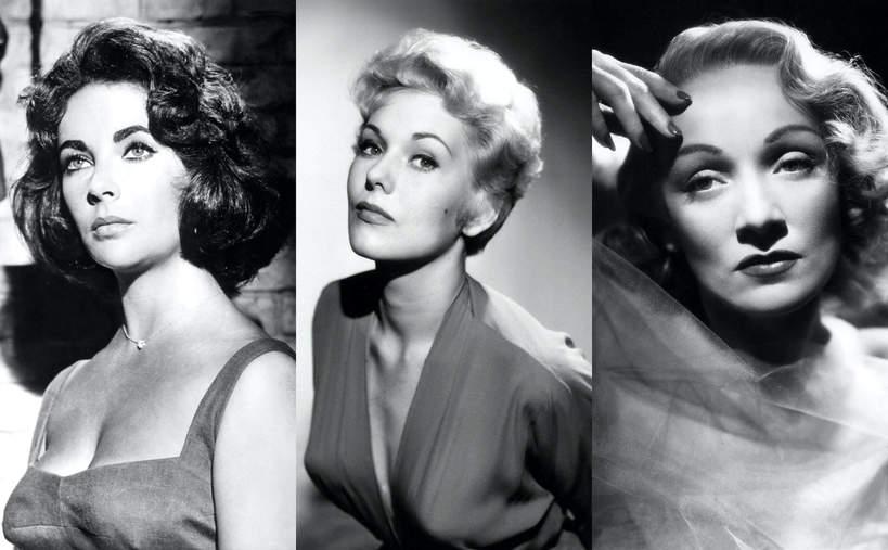 Elizabeth Taylor, Kim Novak, Marlene Dietrich