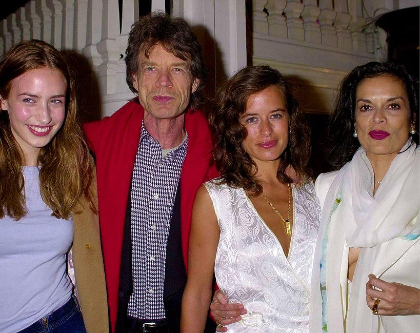 Elizabeth Jagger, Liz Jagger, Mick Jagger, Jade Jagger i Bianca Jagger