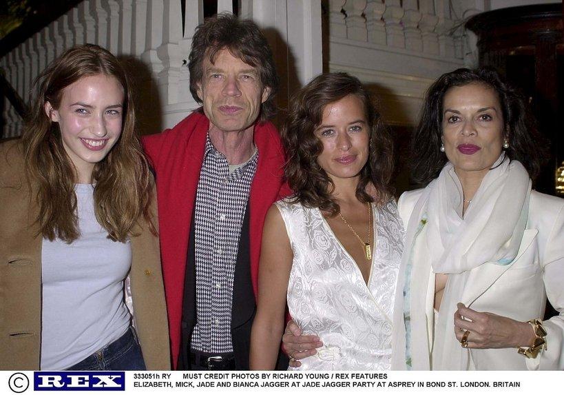 Elizabeth, Mick, Jade i Bianca Jagger