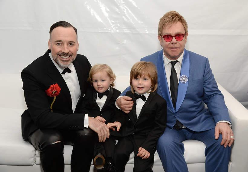 Elton John, David Furnish, Elijah Furnish-John, Zachary Furnish-John, dzieci Eltona Johna