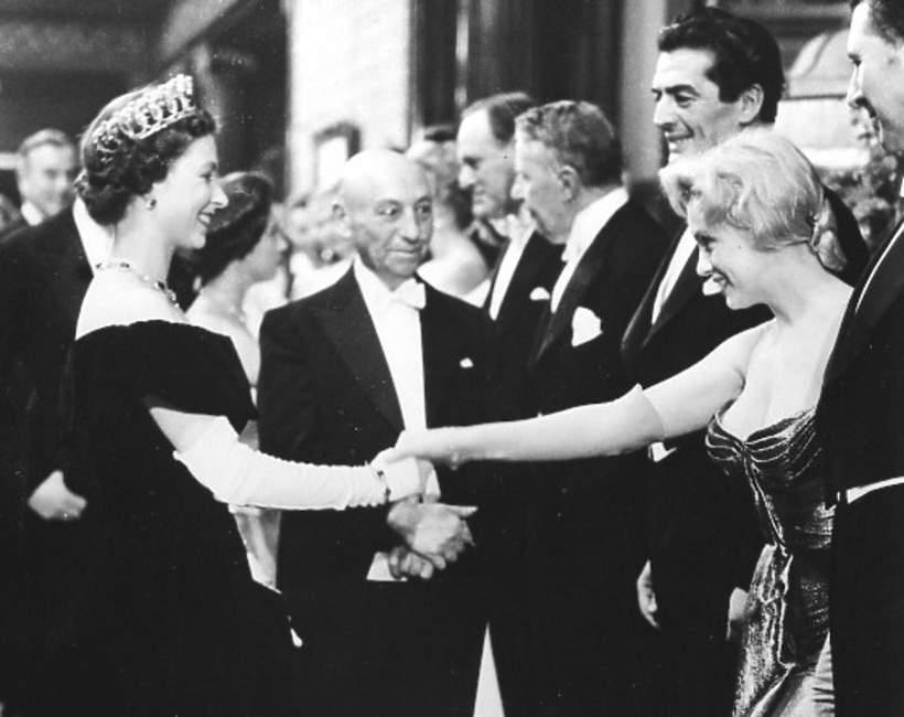 Elżbieta II i Marilyn Monroe