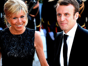 Emmanuel Macaron z żoną