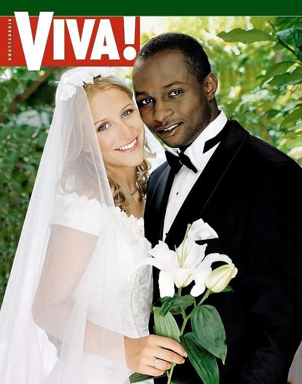 Emmanuel Olisadebe z byłą żoną Beatą w sesji dla magazynu VIVA!