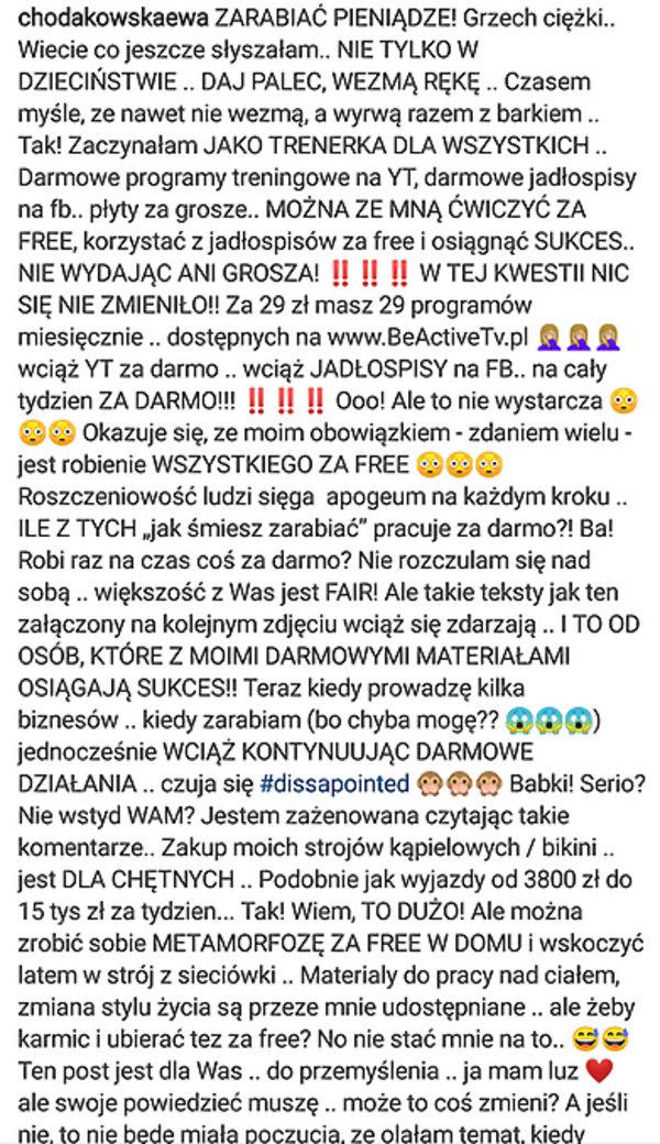 Ewa Chodakowska, screen