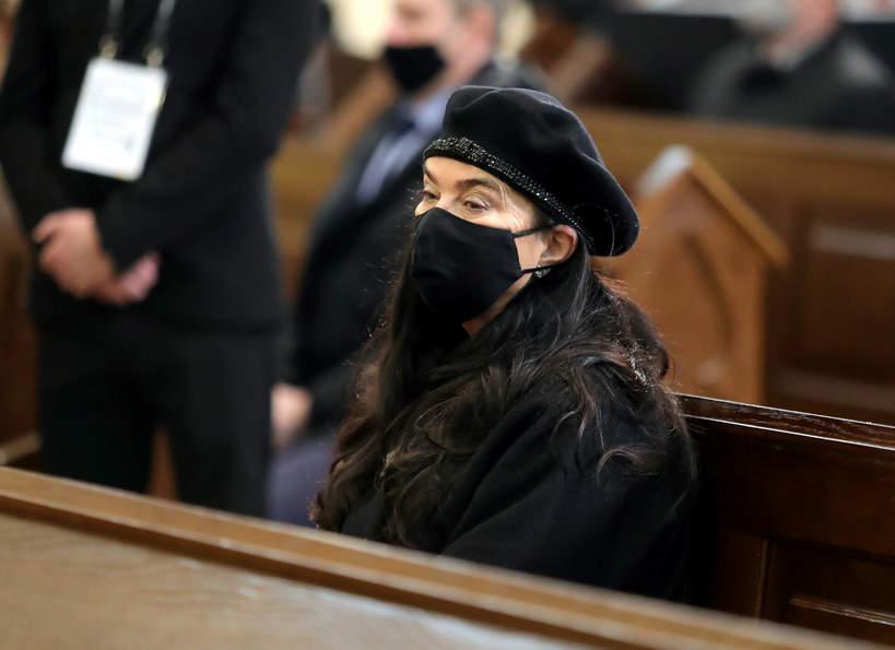 Ewa Krawczyk, Pogrzeb Krzysztofa Krawczyka, 10.04.2021