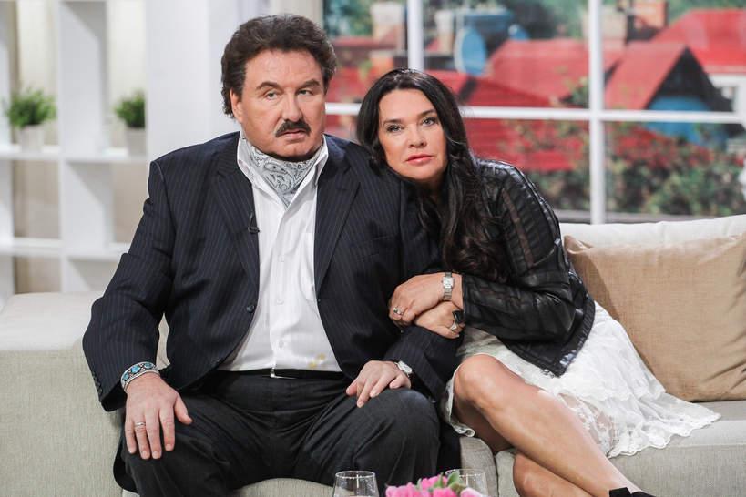Ewa Krawczyk z mężem, 2014