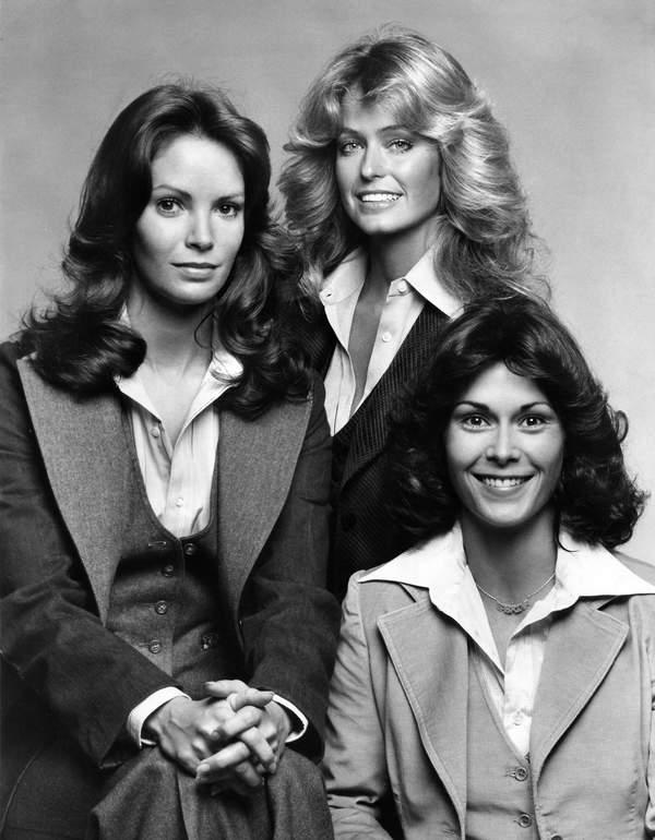 Farrah Fawcett, Jaclyn Smith, Kate Jackson, serial Aniołki Charliego, 1977 rok