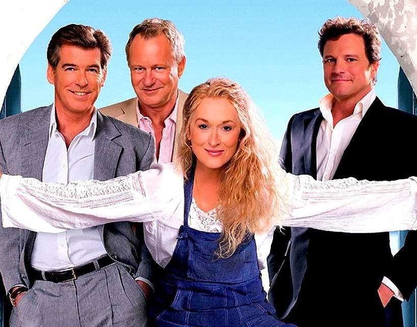 film Mamma mia!, Meryl Streep, Pierce Brosnan, Colin Firth, Stellan Skarsgard