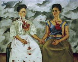 "Frida Kahlo, obraz ""Dwie Fridy"", 1939 rok"