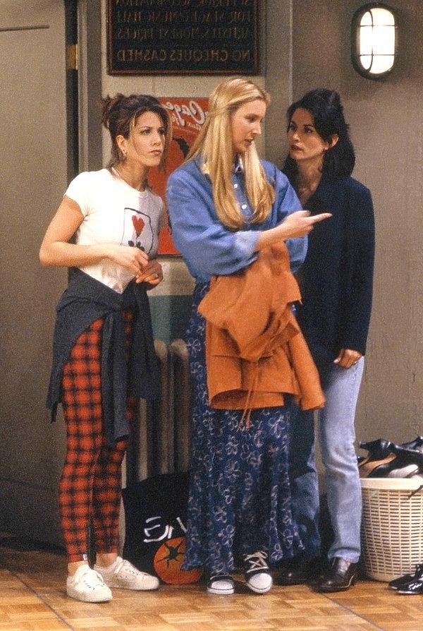 Friends, styl,  Jennifer Aniston, Courteney Cox, Lisa Kudrow
