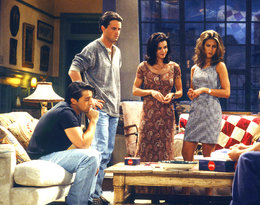 Friends, styl, Jennifer Aniston, Courteney Cox, Matthew Perry, Matt LeBlanc