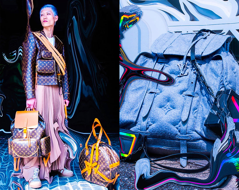 futurystyczna kampania Louis Vuitton fall/winter 2019