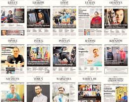 Niezwykły hołd Gazety Wyborczej. Na okładkach21 lokalnych magazynów bohaterowie z pierwszej linii