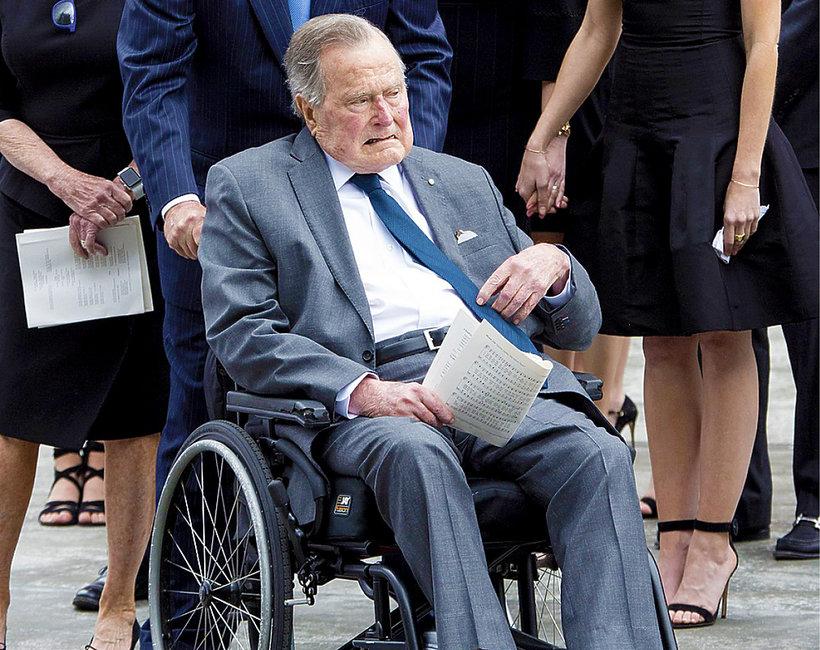 George H. W. Bush, trafił do szpitala