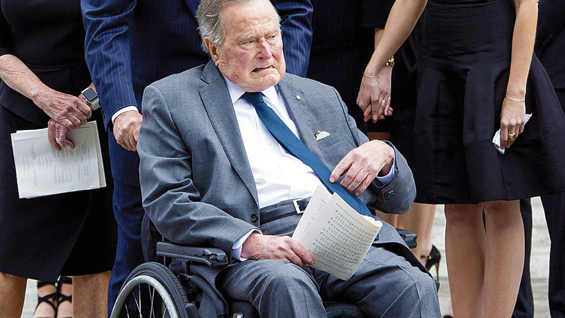 George H. W. Bush, trafił do szpitala