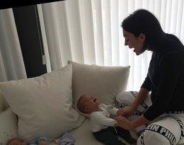 Georgina Rodriguez z dzieckiem Cristiano Ronaldo