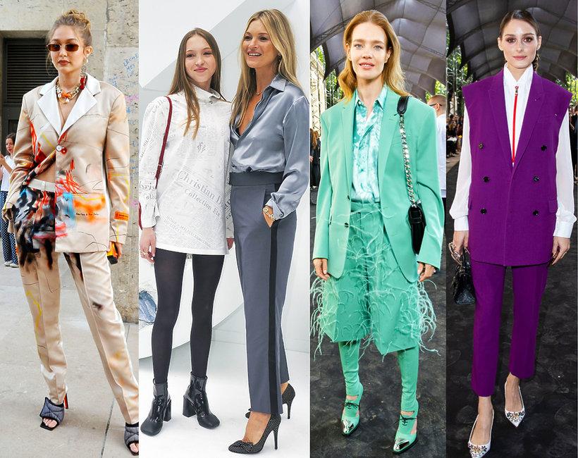 goście na pokazach mody w Paryżu