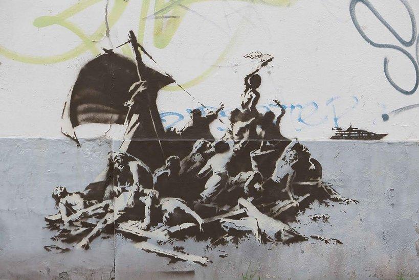 Graffiti Banksy'ego