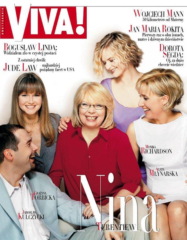 Grażyna Torbicka, Nina Terentiew, Monika Richardson, Agata Młynarska, Jarosław Kulczycki, Viva! czerwiec 2000