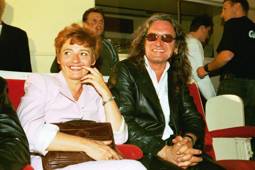 Grzegorz Markowski z żoną, 2002 rok