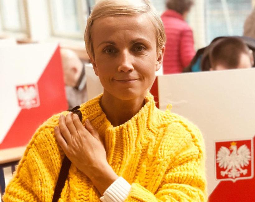Gwiazdy głosują w wyborach: Katarzyna Zielińska