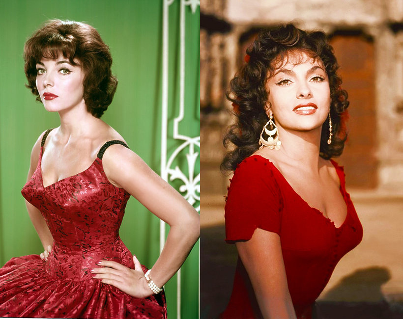 gwiazdy lat 60, JOAN COLLINS, Gina Lollobrigida
