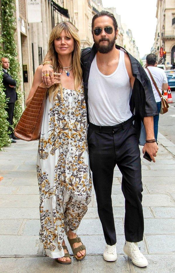 gwiazdy na pokazach haute couture fall winter 2019 w Paryżu, Heidi Klum, Tom Kaulitz