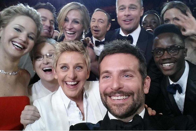 Gwiazdy na selfie z ceremonii Oscarów w 2014