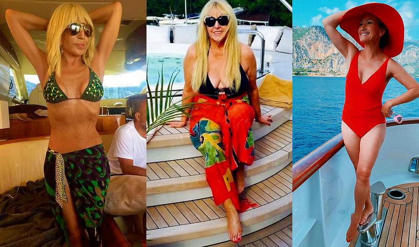 2ff879f060403d Jak dobrze wyglądać na plaży po 60.? Gwiazdy w kostiumach kąpielowych:  Olejnik, Versace, Szapołowska | Viva.pl