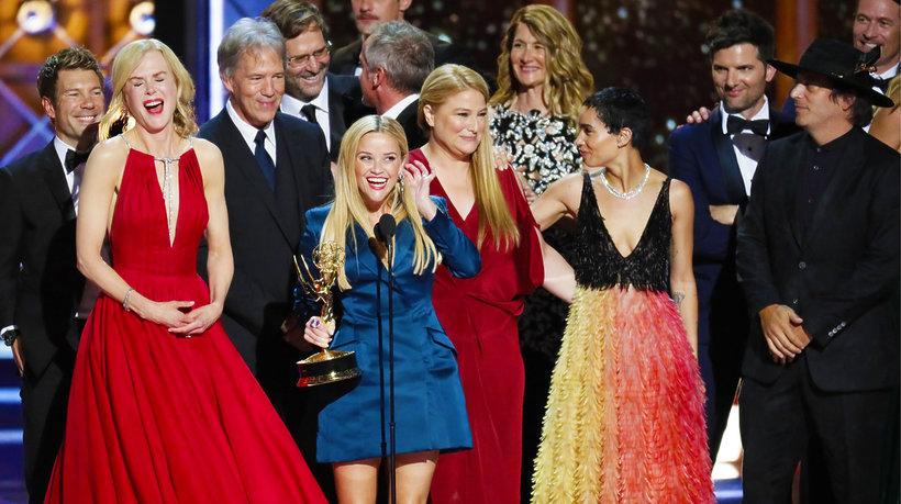 """Gwiazdy serialu """"Małe kłamstewka"""" podczas Emmy 2017"""