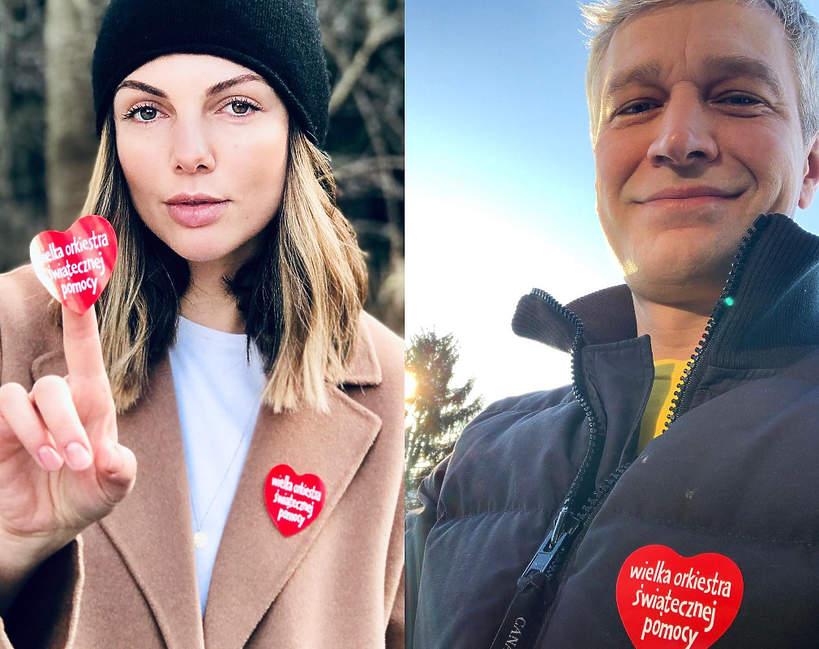Gwiazdy wspierają WOŚP 2021, Michał Żebrowski, Karolina Gorczyca