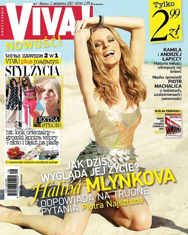 "Halina Mlynkova na okładce ""Vivy""!"