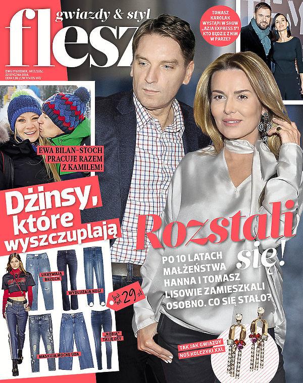 Hanna Lis, Tomasz Lis, okładka Flesza