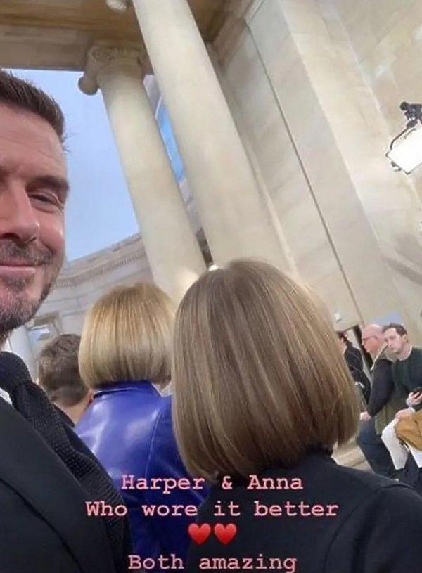 Harper Beckham i Anna Wintour
