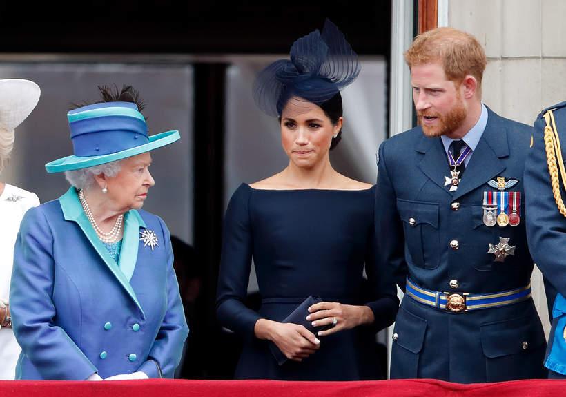 Harry i Meghan z królową